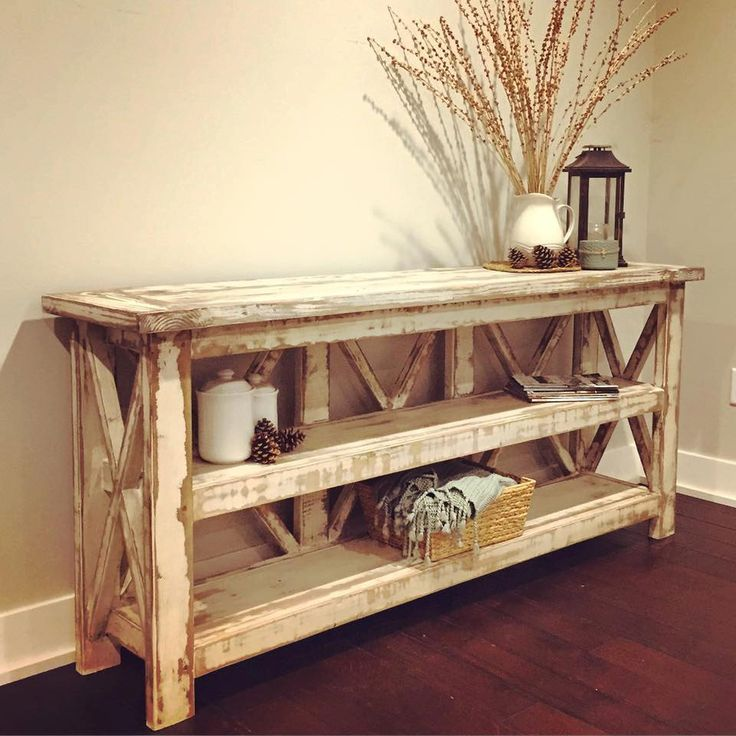 Superb Distressed Country Farmhouse Console/Buffet By BushelandPeckFarm On Etsy