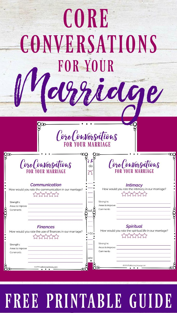 Help your marriage thrive with these core conversations ALL married couples need to have.  marriage advice I marriage I marriage problems I Christian marriage I marriage communication II Faith Along the Way #marriage #marriagegoals #marriagegoals