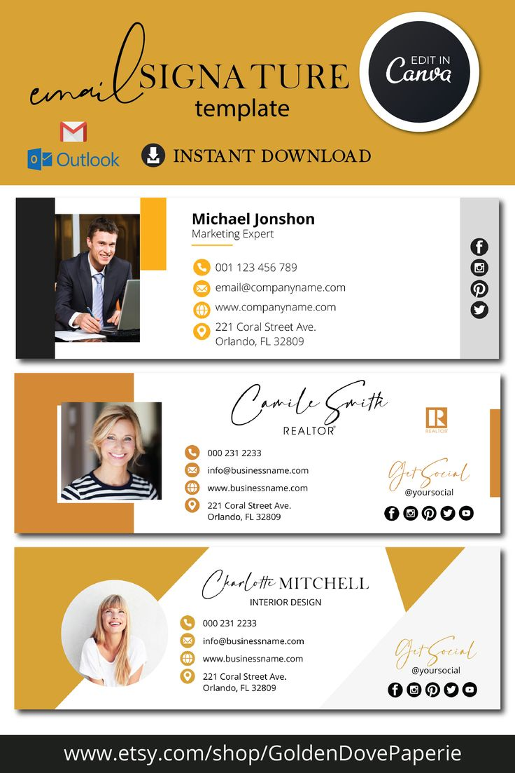 EMAIL SIGNATURE TEMPLATES / GMAIL SIGNATURE /OUTLOOK