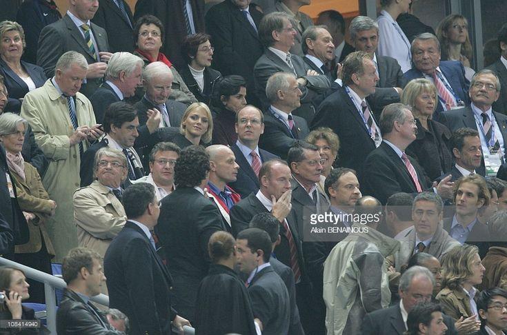 Charlene Wittstock, Prince Albert II of Monaco in Paris, France on October 13th, 2007.