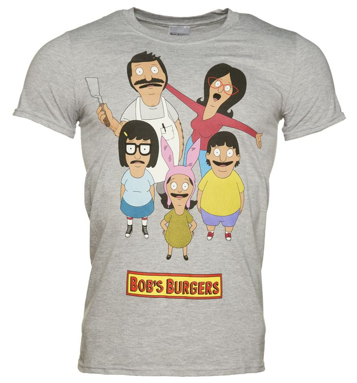 Mens Grey Marl Bobs Burgers T-Shirt If you, like many others are hooked on the latest adult cartoon craze, Bobs, Burgers, you are sure going to appreciate this fab t-shirt featuring the cast in a cheery, fun print. http://www.MightGet.com/february-2017-3/mens-grey-marl-bobs-burgers-t-shirt.asp