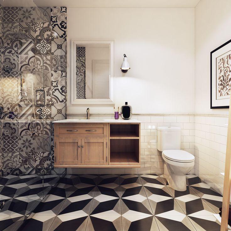 Beauty bathroom in Scandinavian Apartment!! on Behance