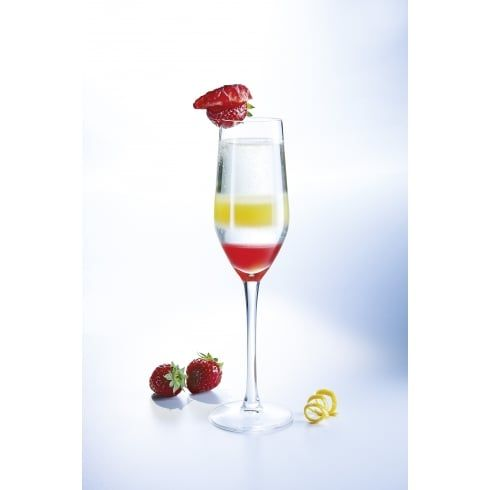 Mineral Effervescent Flute Glass 160ml 5.6oz | Pack of 6
