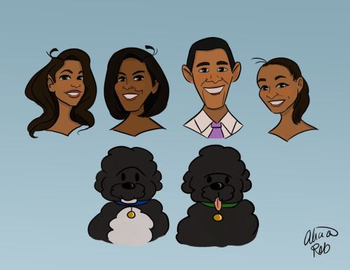 alicia-robinson-art:Gonna miss this First Family so much