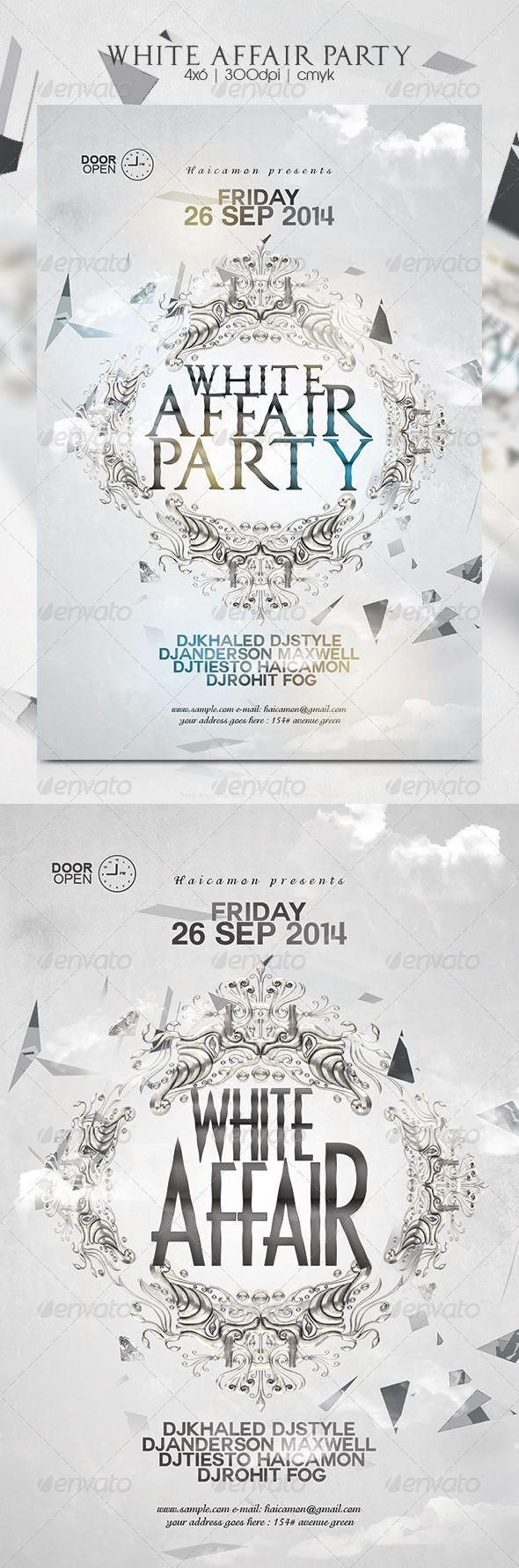 70s poster design template - White Affair Party Flyer