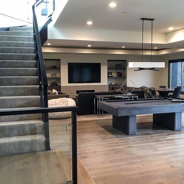 60 Basement Man Cave Design Ideas For Men Manly Home Interiors Man Cave Design Man Cave Basement Basement Design