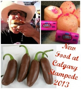 New Food For Calgary Stampede 2013 includes Deep Fried Gum and Chocolate Jalapenos #food #calgary #yyc #calgarystampede #fairfood #deepfried #carnival #countyfair