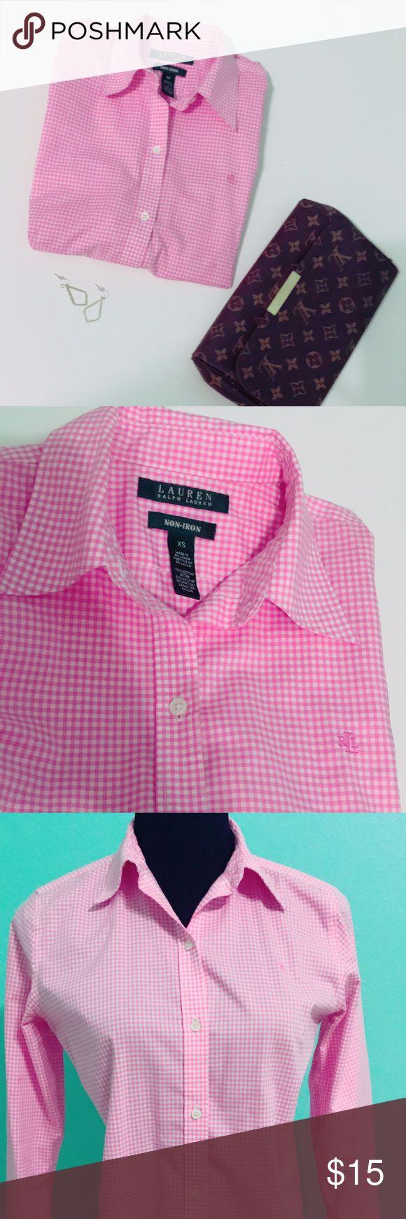 Ralp Lauren shirt Dress shirt, three quarters sleeve Lauren Ralph Lauren Tops Button Down Shirts