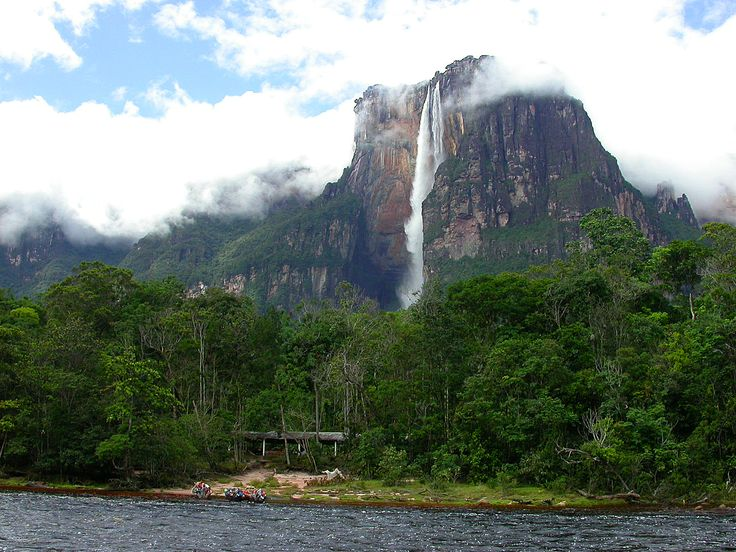 Angel Falls, Venezuela. The water of Angel Falls (the world's highest) in Venezuela  drops 3,212 feet (979 meters).  They are 15 times higher than Niagara Falls .