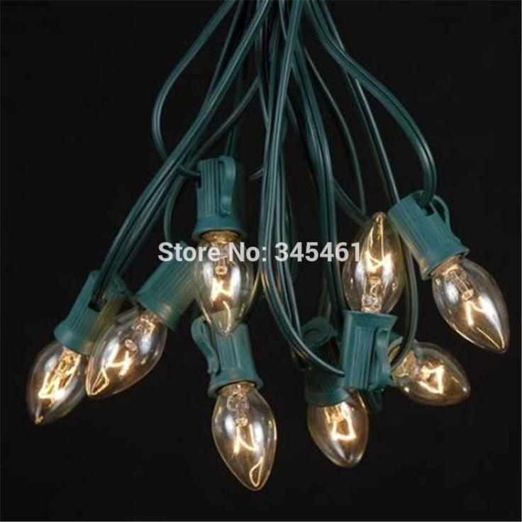 novelty lighting holiday christmas light c7 socket outdoor lighting patio light string 25ft - Long Christmas Lights