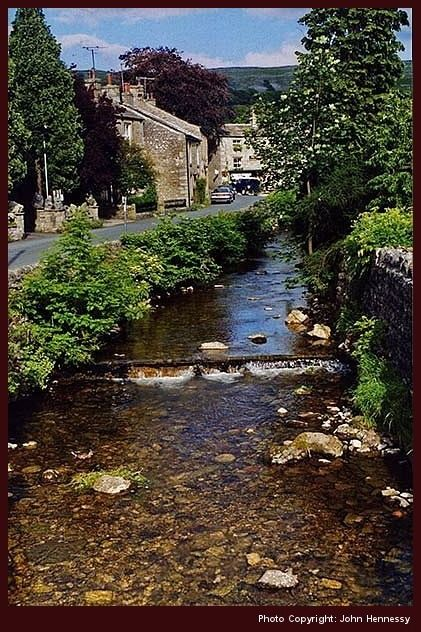 Kettlewell, North Yorkshire, England. The Village setting for the movie 'Calender Girls""