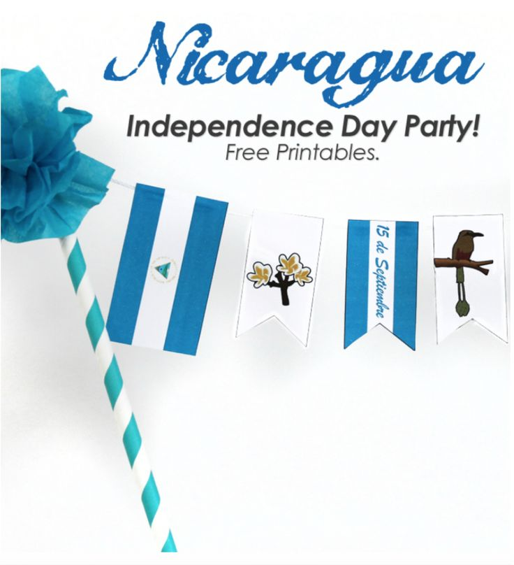 Nicaragua Independence Day party free party printable!