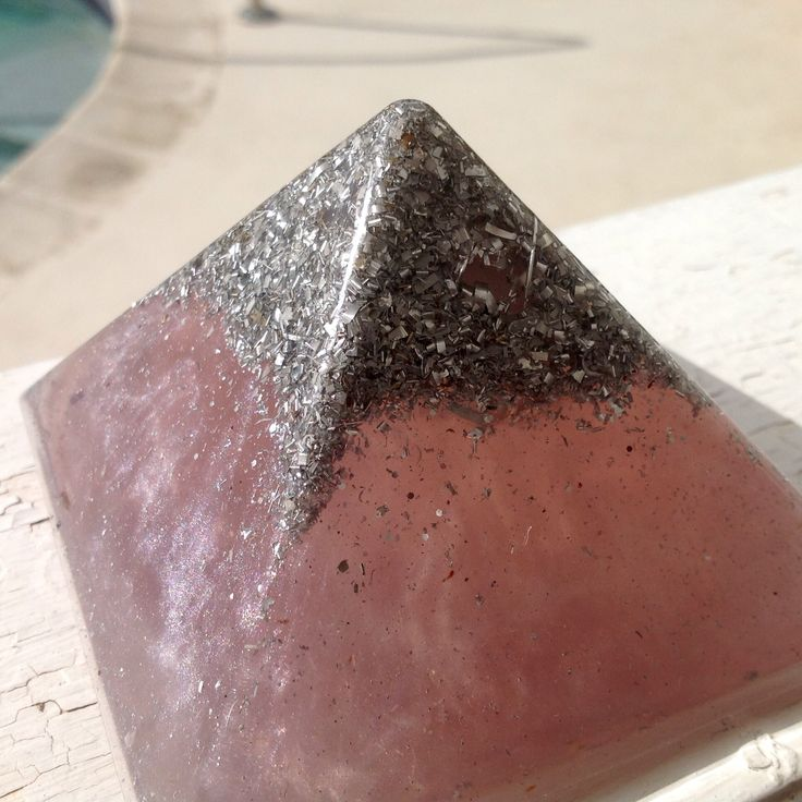 Rose Quartz Orgone Generating Pyramid available now at pocketorgonite.com