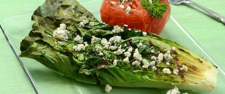 Grilled Romaine with Maytag Blue Cheese