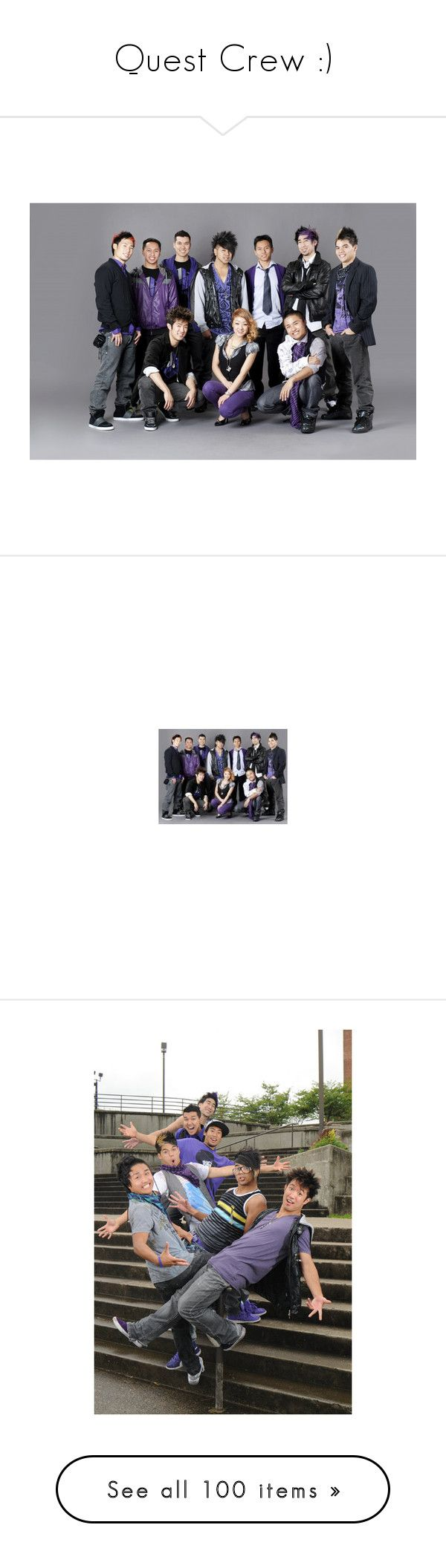 """""""Quest Crew :)"""" by vlrb02 ❤ liked on Polyvore featuring quest crew, dance, tops, crew-neck tops, crew neck shirt, lakers shirt, crewneck shirts, crew top, quotes and saying"""