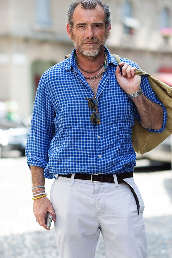 Casual Friday Italian Style sartorialist blog fashion men gingham blue