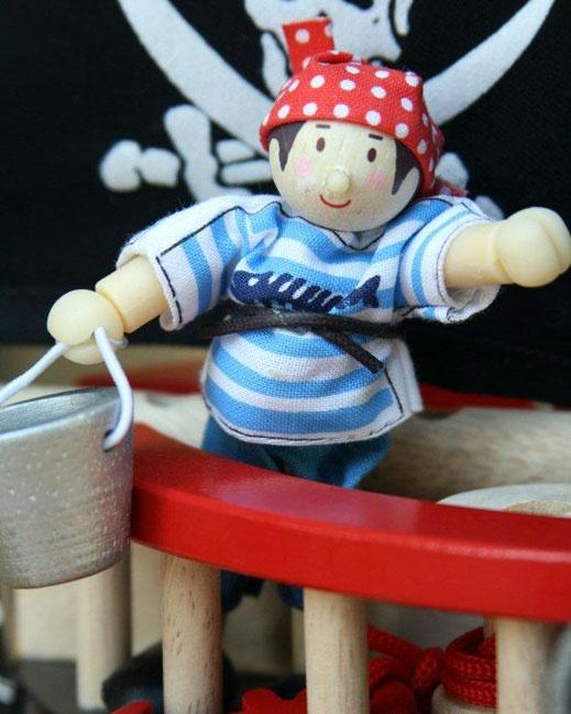 Pirate Boy Jacob - 10cm toy pirate