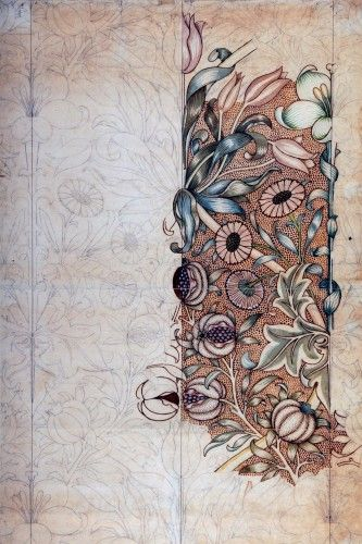 Lily and Pomegranate design for wallpaper (1886)  William Morris (1834 - 1896)
