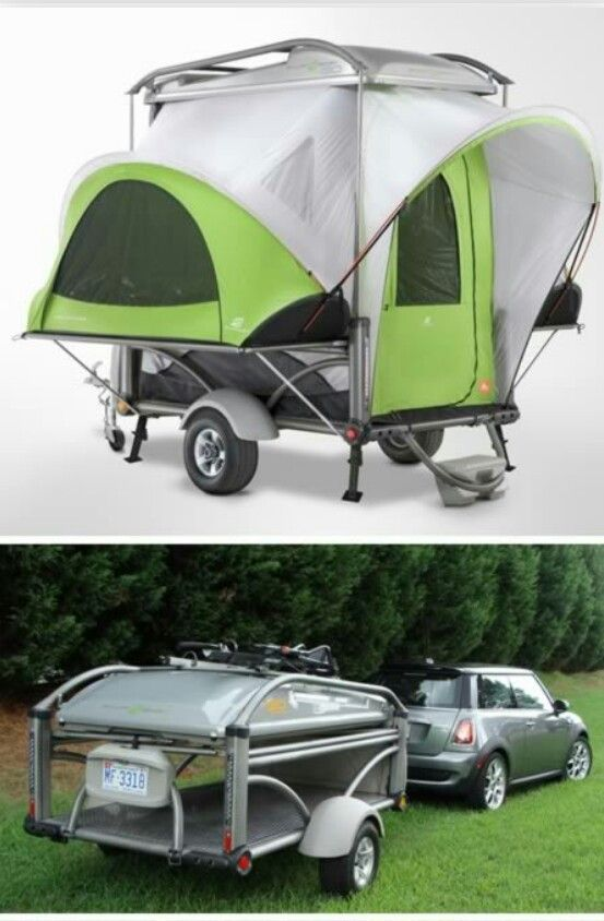Modern pop up camper and cooper