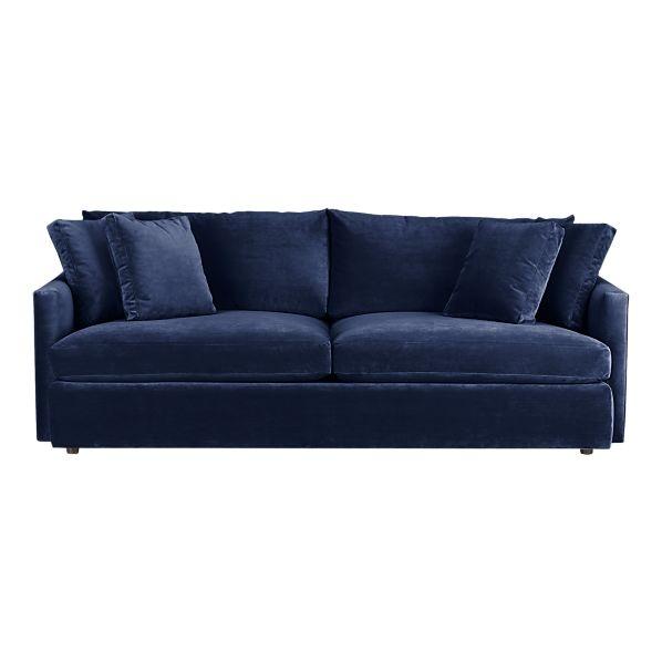 Lounge 93 sofa - Navy blue velvet sofa ...