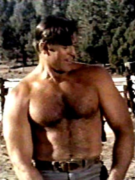 Clint Walker-Western actor As you can see, my love of big,brawny men started really early. Thanks, Grandma!