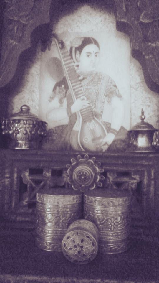 Jharoka, silver kumkumdaanis ...vintage love