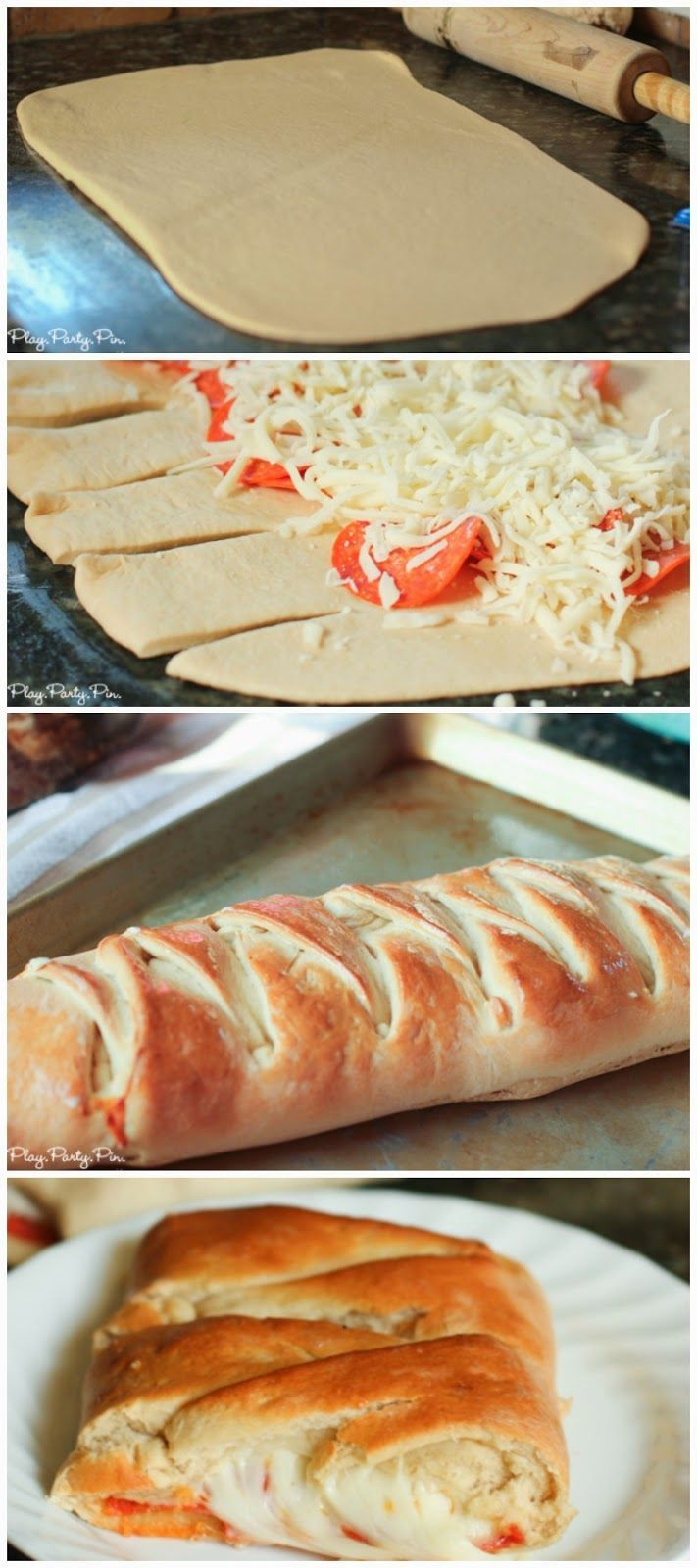 Pizza loaf recipe, perfect with pizza or sandwich toppingsPizza Loaf, Favorite Tops, Food, Sandwiches Tops, Pizza Recipes, Easy Yummy Pizza, Pizza Rolls, Pizza Dough, Loaf Recipe