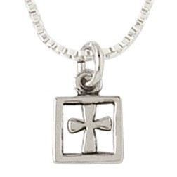 Sterling Silver Cross Necklace - Boxed