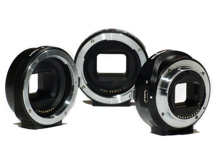 Canon EF lens to Sony NEX Smart Adaptor launched   Sino-Japanese lens adaptor manufacturer Metabones has teamed up with Vancouver-based lens modification specialist Conurus to create a new range of 'Smart Adaptors', the first of which attaches Canon EF lenses to the Sony NEX's E-mount. Buying advice from the leading technology site