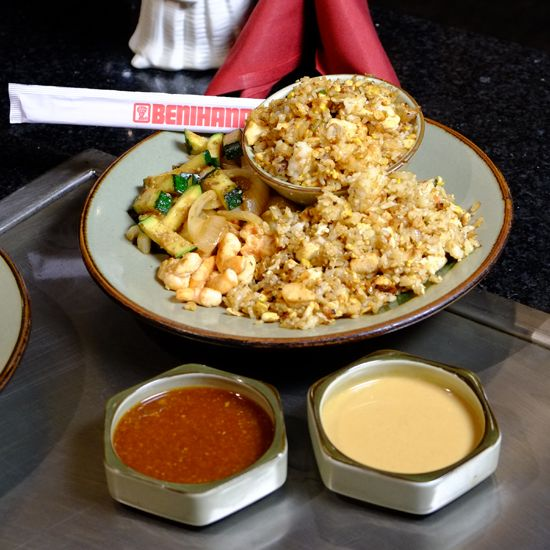 Learn how to make Benihana's chicken fried rice (along with that awesome onion volcano!)