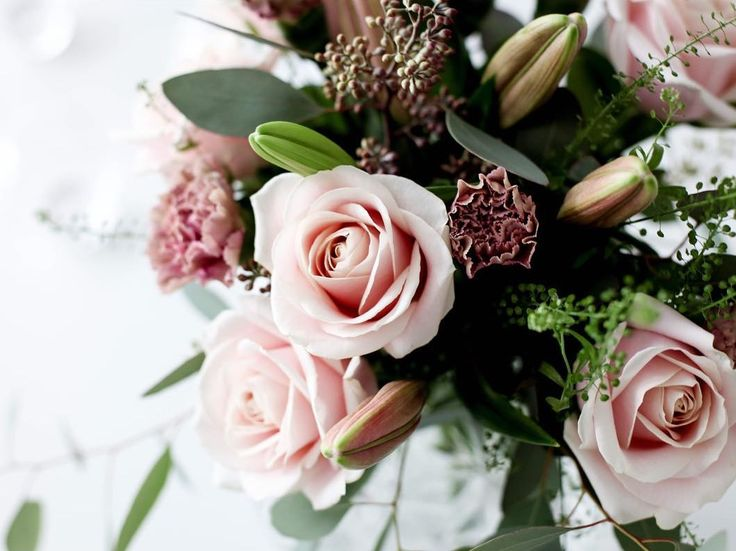 Vacker vårbukett från Interflora. Foto av mittvitahus