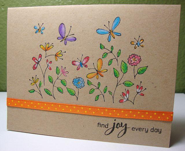 Die Mischung aus braunem Cardstock und der Colorierung ist traumhaft schön...