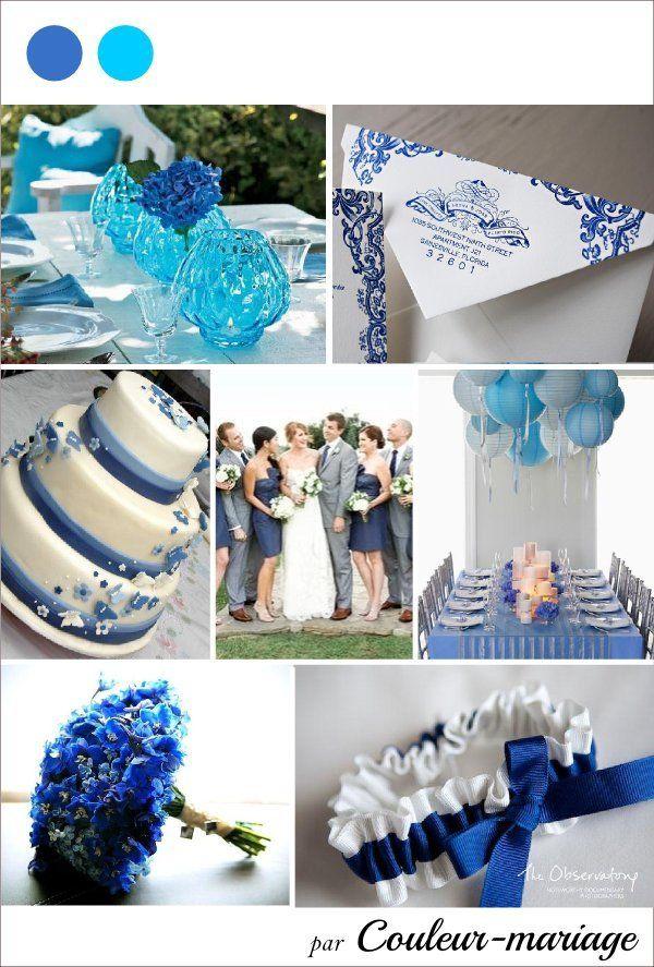 decoration mariage bleu blanc