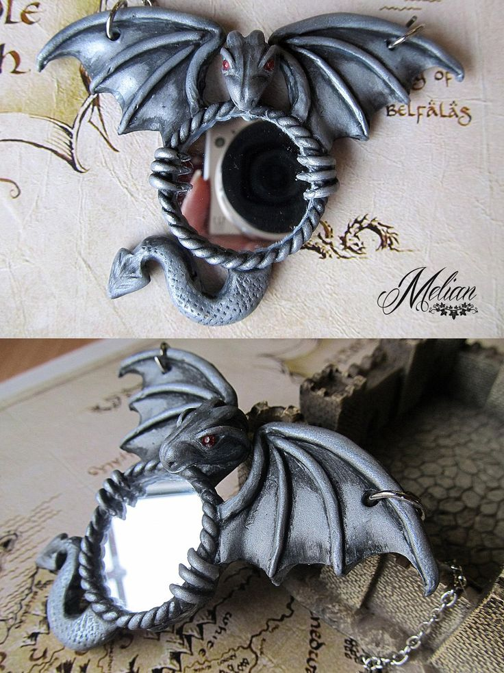 Dragon mirror necklace by Melian-art.deviantart.com on @DeviantArt