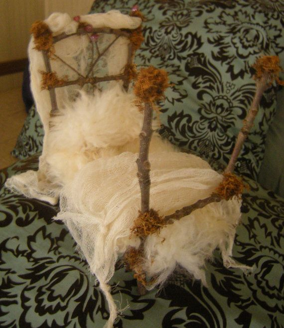 Little fairy tale bed by bonnieblu12 on Etsy, $50.00