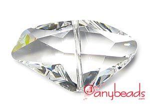 Clear Crystal - Austrian Swarovski Crystal Elements 5556 Galactic Bead #anybeads #Swarovski #crystal