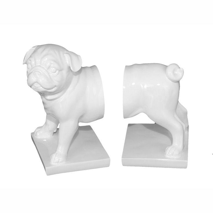 Pug Bookends | dotandbo.com