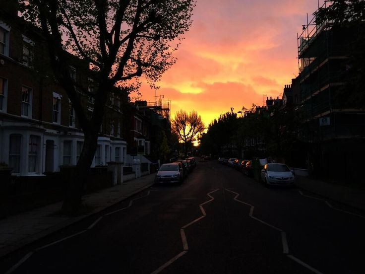 Steve took this gorgeous Iverson Road sunset photo in April in West Hampstead