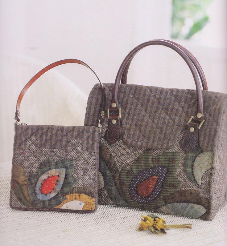 How to make tutorial set of shoulder tote Bag Handbag  purse wallet women sewing quilt patchwork applique pdf pattern patterns ebook. $6.00, via Etsy.