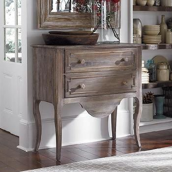 Driftwood Accent Chest 2 Drawers in White Wash