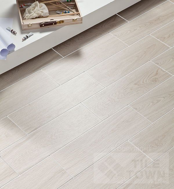 White Ceramic Tile Floor