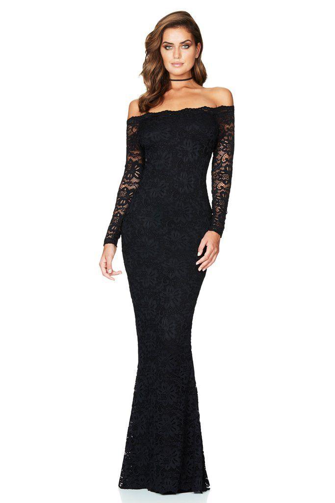 Nookie - Paris Lace Gown - Black