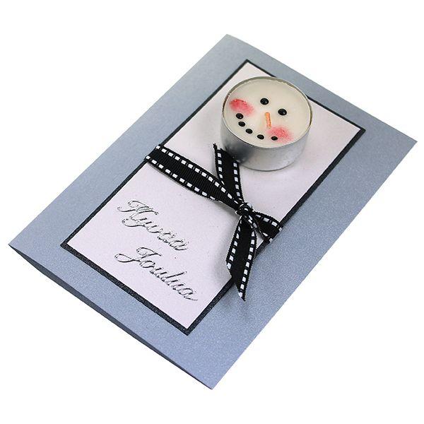 Vahavärein koristeltu tuikku on hauska kortin koriste!