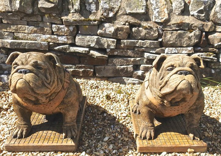 Discount Garden Statues Ltd - EXCLUSIVE Pair Stunning Sitting British Bulldogs Ornament Statue Hand Made in UK, £299.00 (http://www.discountgardenstatues.co.uk/exclusive-pair-stunning-sitting-british-bulldogs-ornament-statue-hand-made-in-uk/)