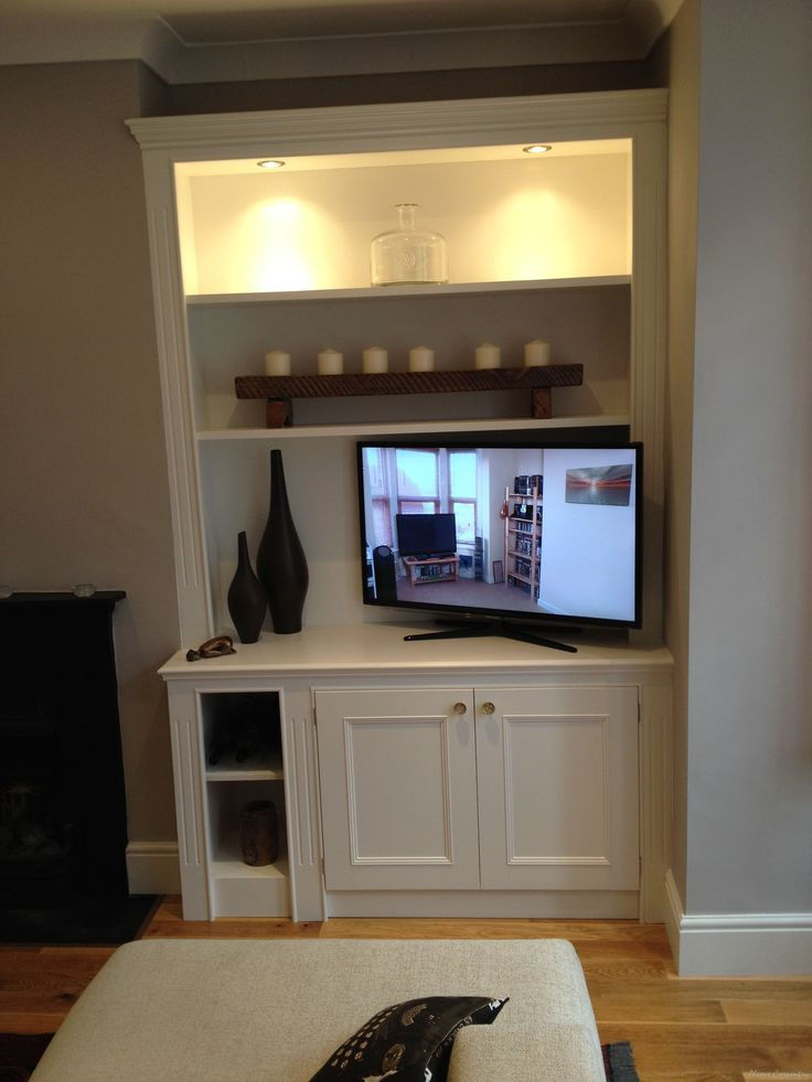 Illuminated Built In Tv Alcove Storage Stuff For The New