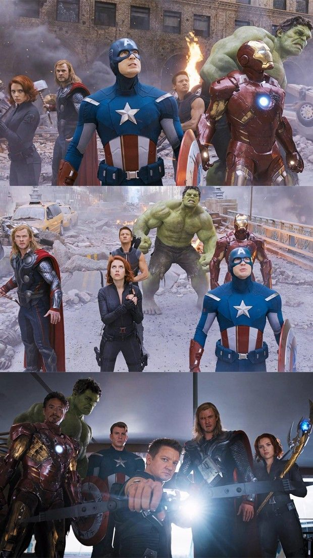Iron Man Captain America Hulk Black Widow Thor Hawkeye