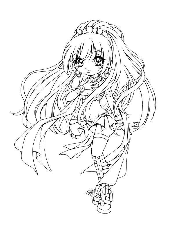 Best 508 coloriage manga ideas on pinterest coloring - Coloriage chibi ...