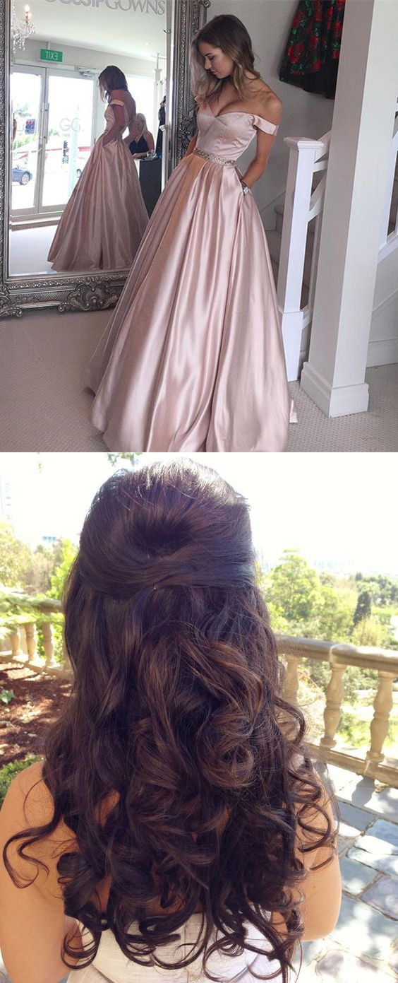 2017 off shoulder prom dresses,prom looks,prom hair style,2017 fashion prom hair style,likes
