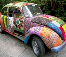 Super beetle van Bokja!   #colorfull #auto