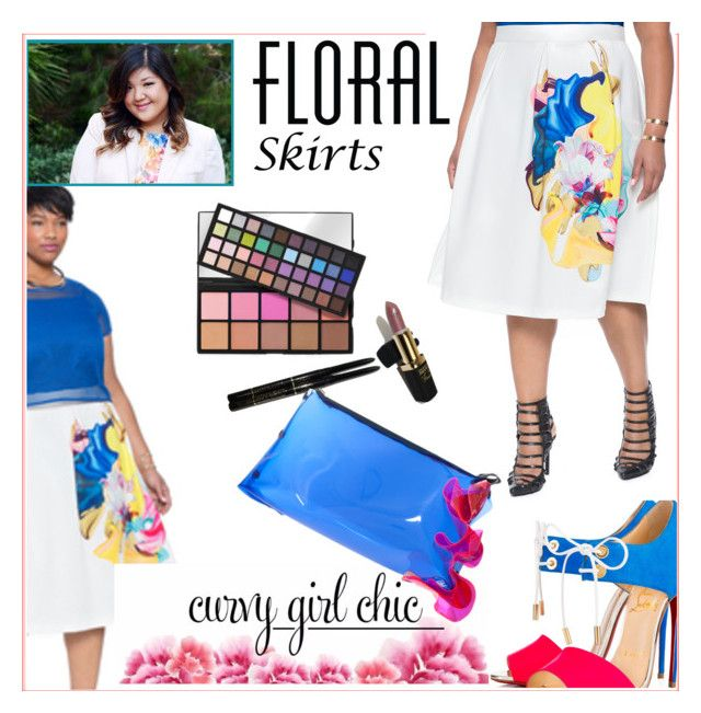 """""""Curvy Girl Chic Floral Skirts"""" by melindairenes ❤ liked on Polyvore featuring Eloquii, L'Oréal Paris, Christian Louboutin, Roksanda, contestentry, hugsandkisses, thanksweetpolyvoreteam, PVCurvyChic, thankswonderfulluvs and thanksweetpolyfriends"""